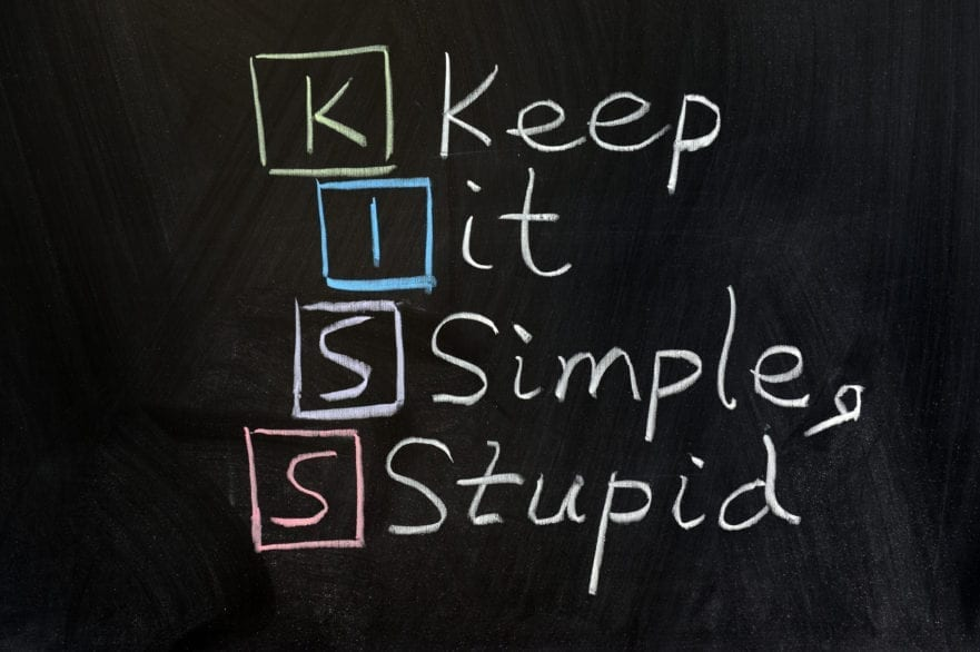 K.I.S.S. keep it simple stupid image for blog post about hr software