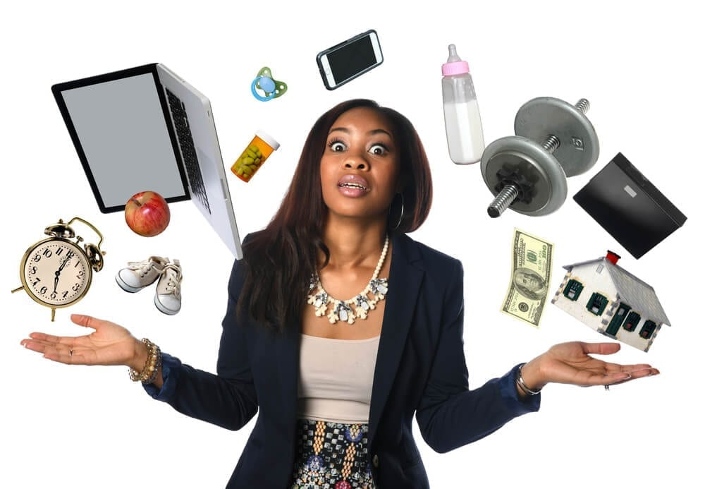 image portraying a woman juggling and how difficult it is to manage multiple small business hr and admin tasks