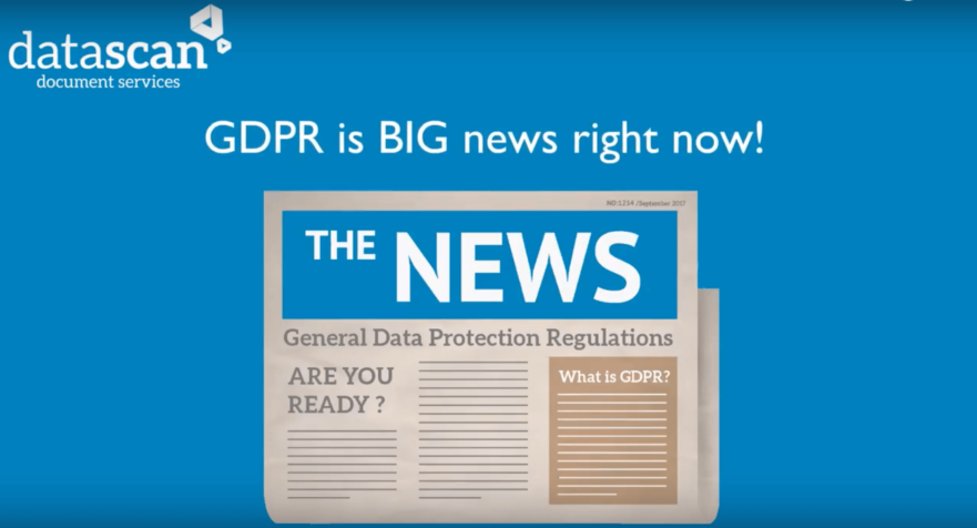image about GDPR and HR on a newspaper