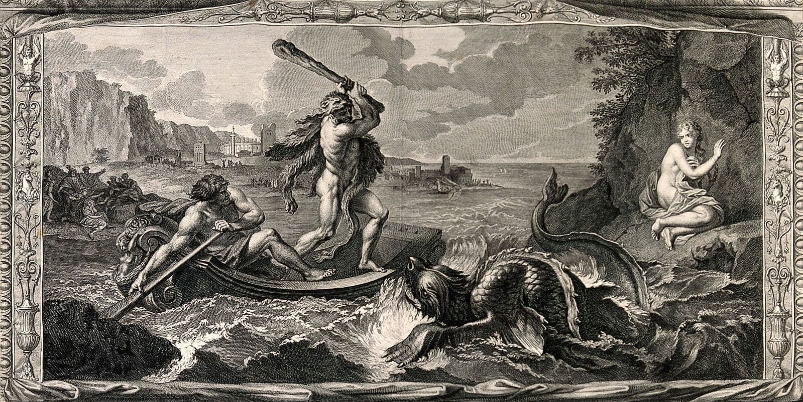 image of hercules fighting a sea monster for hr software blog post