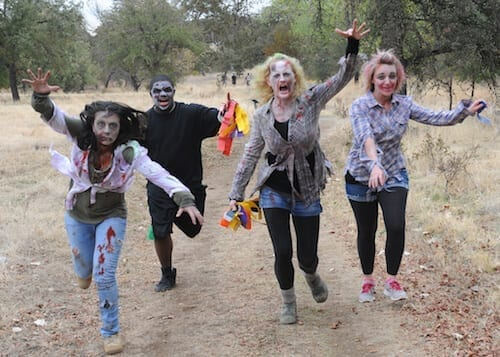 Zombies in a field