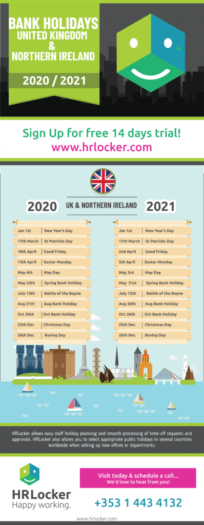 Blog Post Image relating to Public Holidays in the Uk for 2020/2021