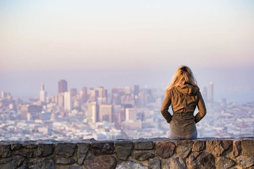 image of someone viewing a city for blog post on remote working