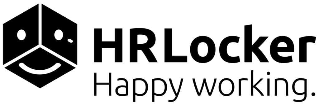 Black and White HRLocker Logo