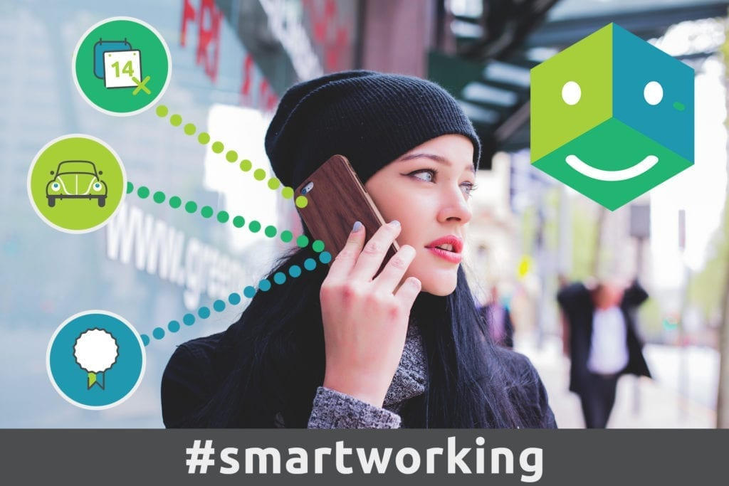 HR Generalist working remotely using her phone on a call