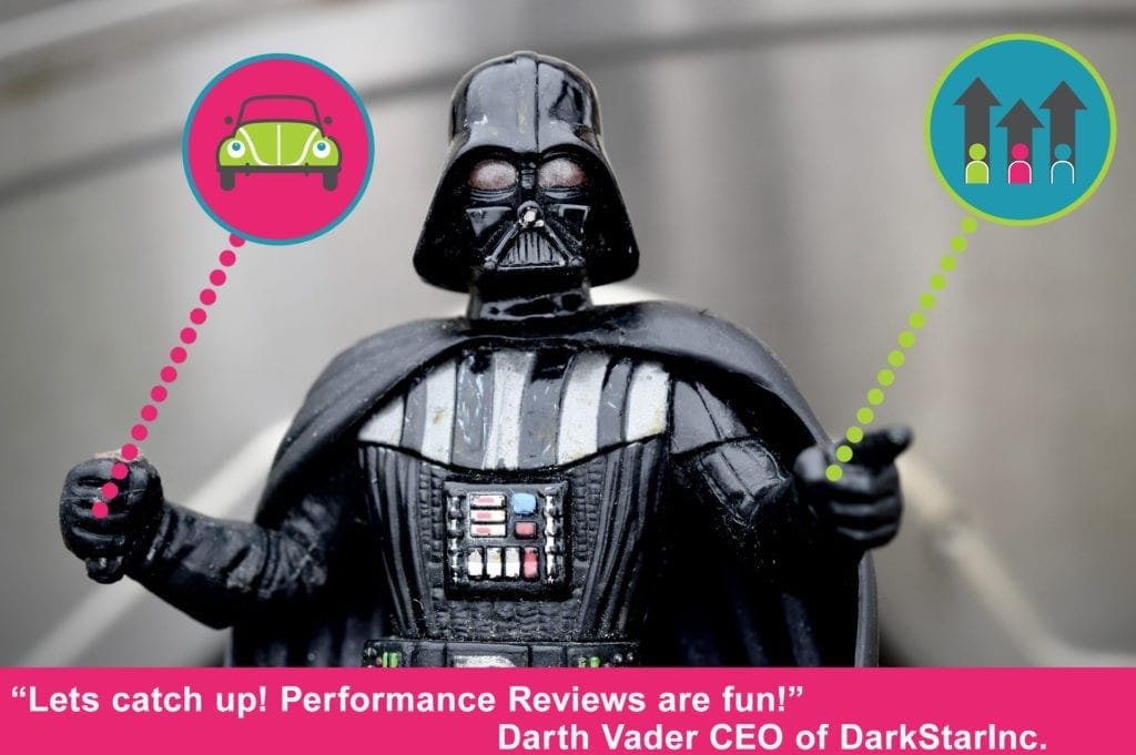Darth Vader using performance management