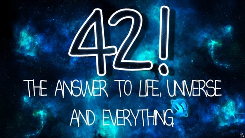 the answer is 42