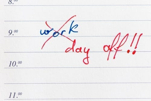 Take a day off in lieu of work hours