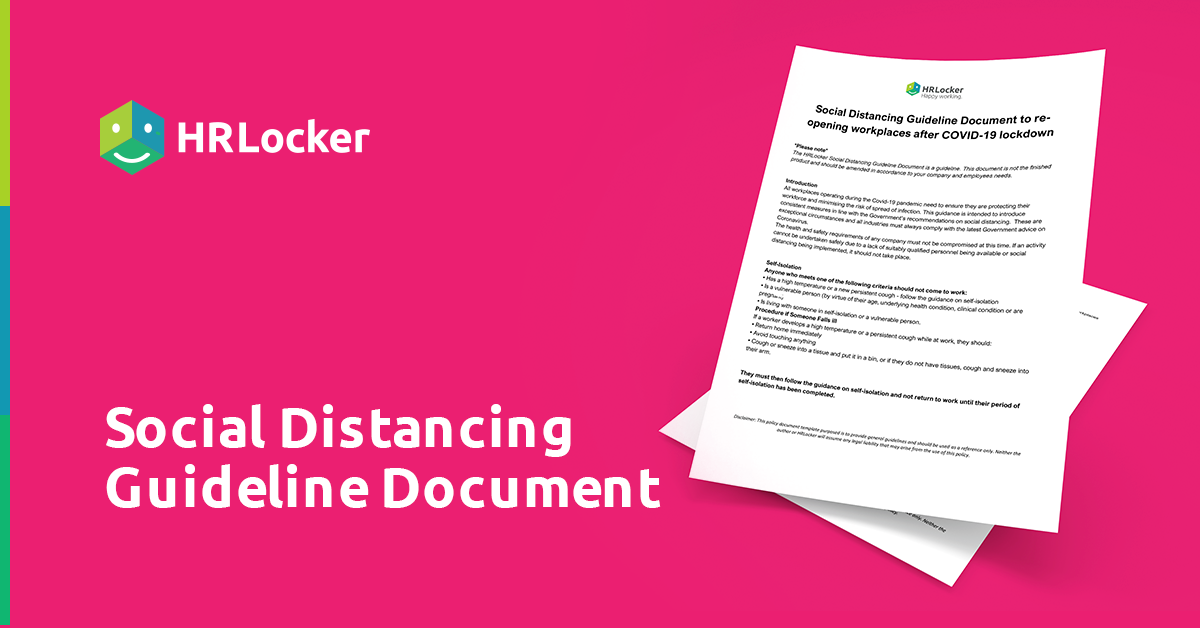Download your free social distancing guideline document