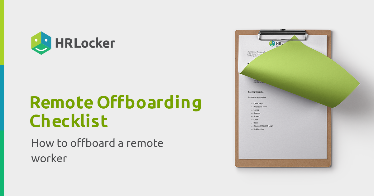 Offboarding for remote worker