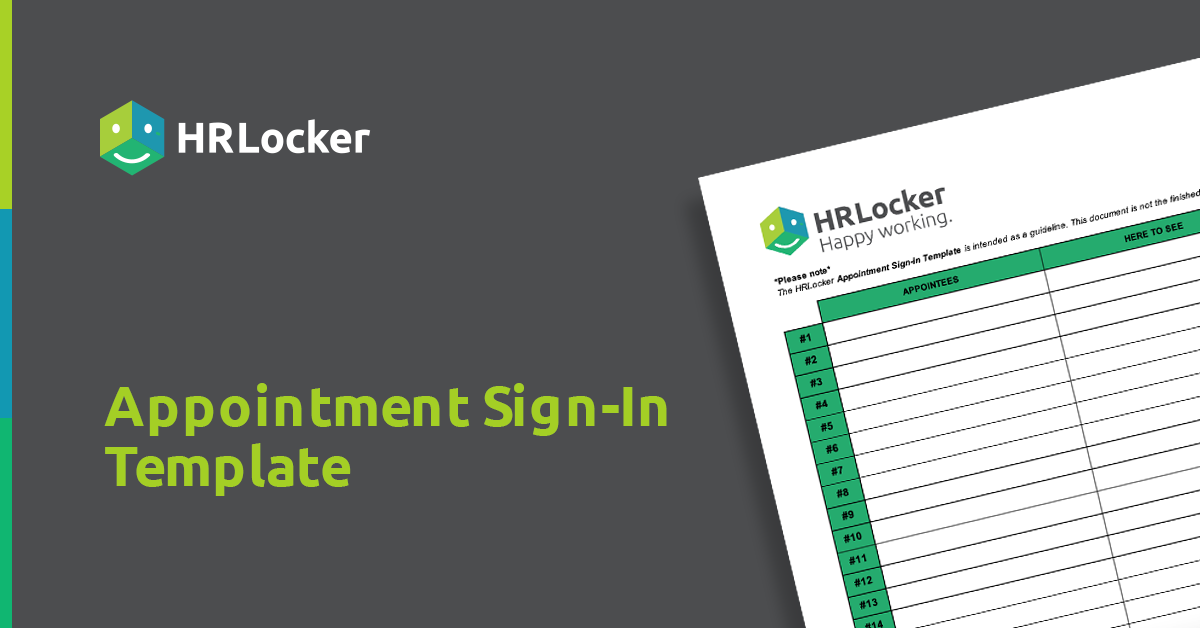 Download your free Appointment Sign-In Template