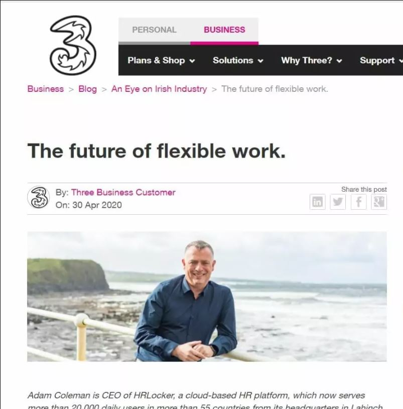 The Future of flexible work – dual working - Three.ie