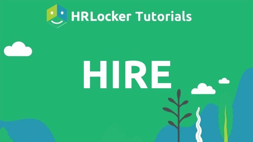 HIRE Thumbnail from HRLocker Tutorials