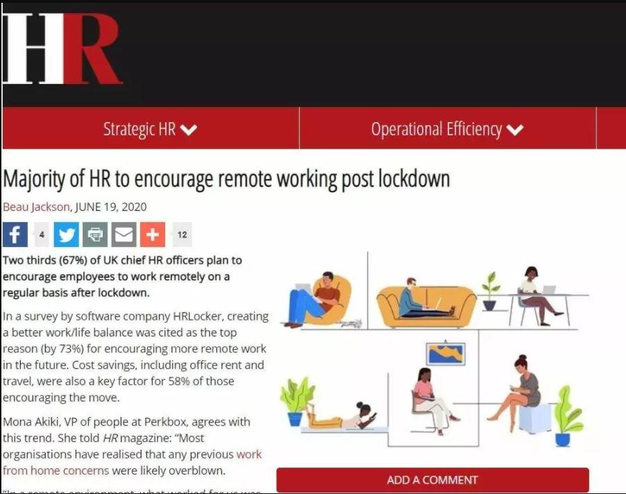 Majority of HR to encourage remote working post lockdown