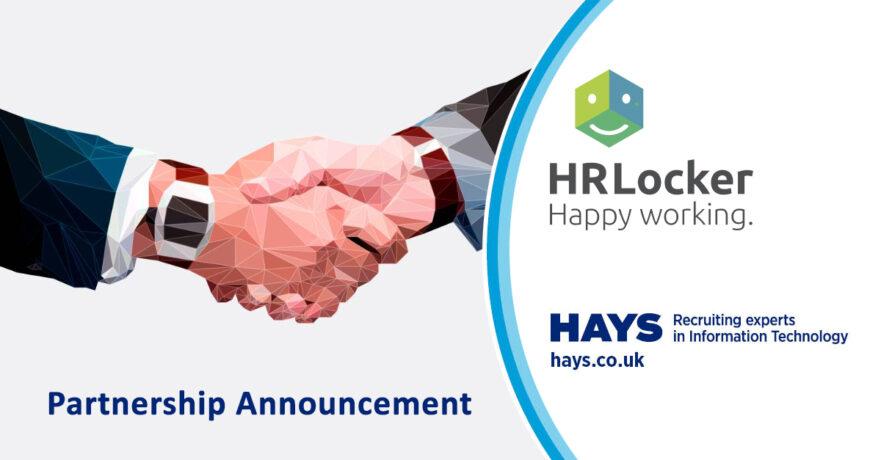 HRLocker HR Software Partnership with Hays image showing a business handshake