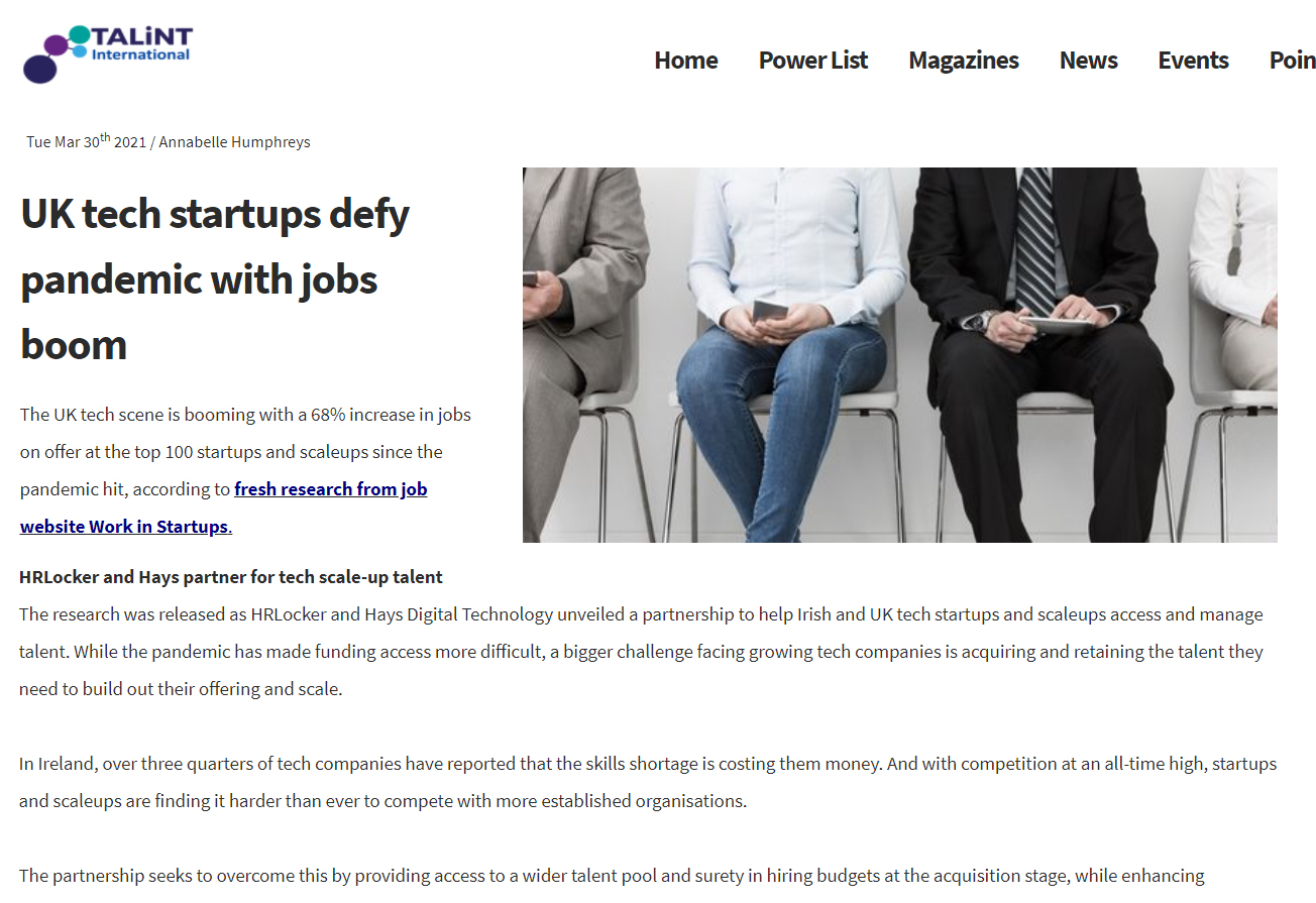 UK tech startups defy pandemic with jobs boom