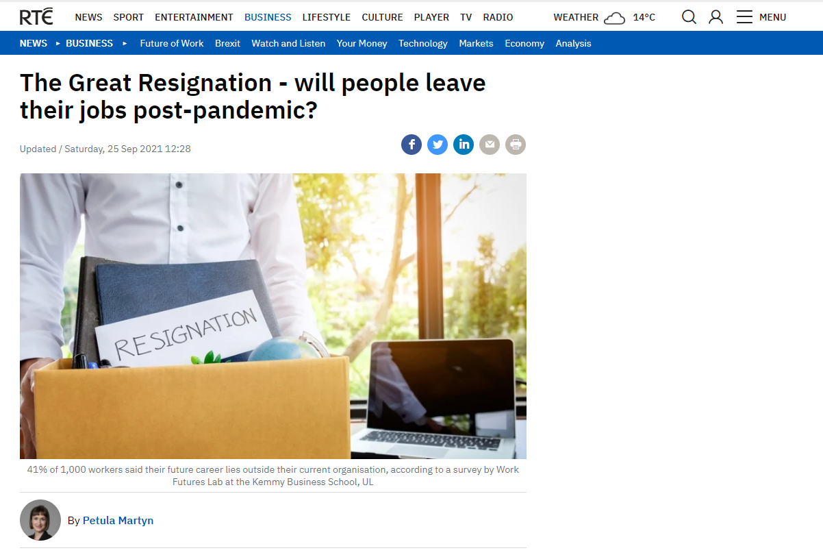 The Great Resignation - will people leave their jobs post-pandemic?